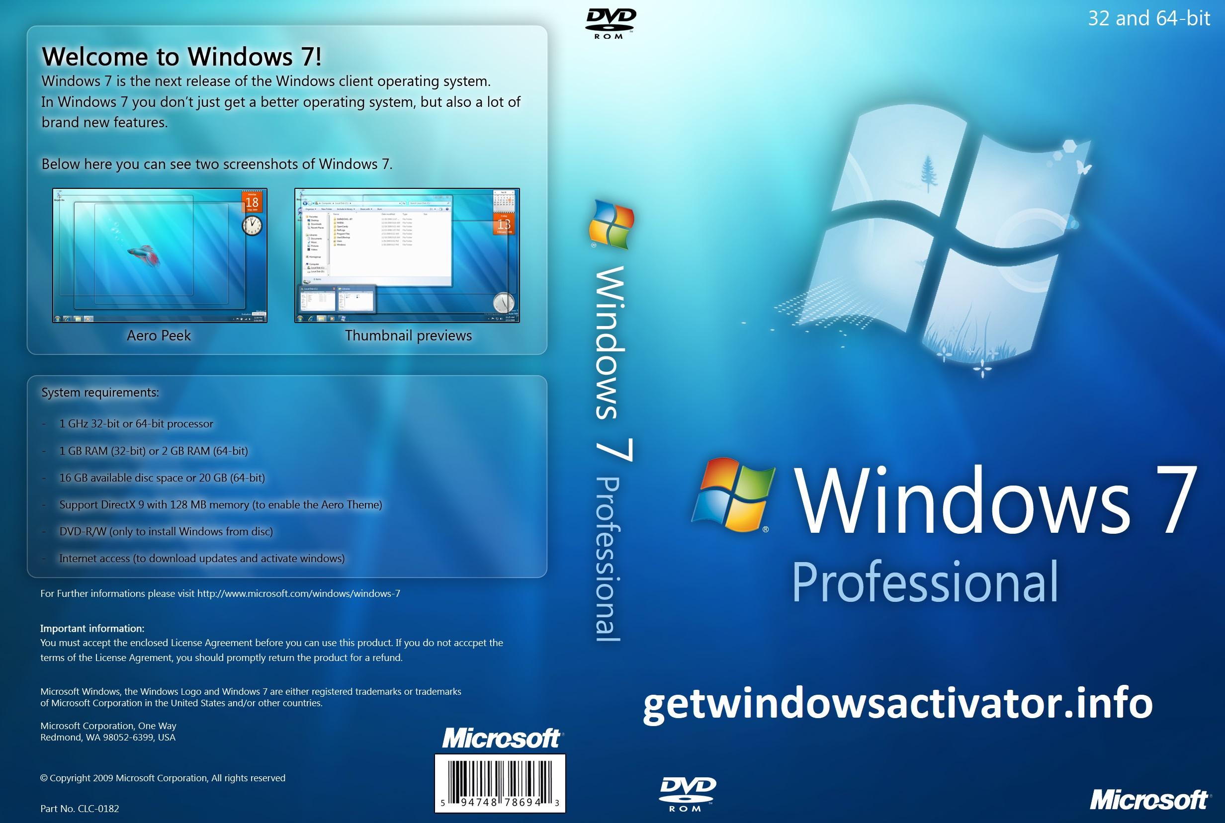 Windows 7 Professional Product Key Free Download ⸤32+64 Bit⸥