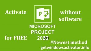 Active Microsoft Project Without Software
